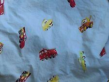Disney Pixar Cars Blue Fitted Elastic Crib Toddler Bed Single Bottom Sheet