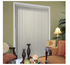 GRAY VERTICAL WINDOW BLINDS Shades Cordless Patio Sliding Glass Door 78 W x 84 L
