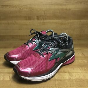 Brooks Ravenna 7 Womens Sz 8.5 B Gray Pink Teal Running Training Athletic Shoes