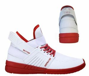 Supra Skytop V England Slip On High Top Lace Up Mens Trainers 08032 136 B38E