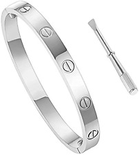 Love Bracelet Stainless Steel Cuff Bangle Titanium Steel Screws Womens Bracelet