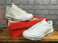 NIKE LADIES AIR MAX 97 PURE PLATINUM WHITE BULLET TRAINERS RRP £145 MANY SIZES