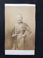 Victorian Carte De Visite CDV: Mystery Man With Sword: Cavalry? Wild West?