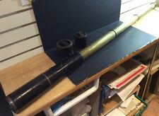 Antique c.1900 Large Brass & Leather 3-Draw Telescope 60mm Dia 48in Long Open