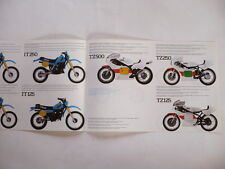 PROSPECTUS YAMAHA GAMME COMPETITION 1983  CIRCUIT,CROSS,ENDURO