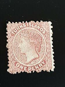 Turks Islands 1867 QV 1d Dull Rose MNH SG 1