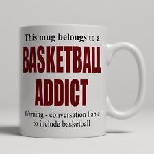 Novelty basketball addict Player Fan Spectator Mug Cadeau Céramique Thé Tasse à café