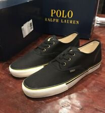 Polo Ralph Lauren Morray Shoes Sneakers Boat New Black Yellow Men's Size 12