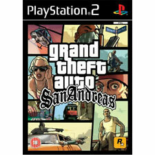 Grand Theft Auto San Andreas for PS2 Playstation 2 - with MAP AND POSTER