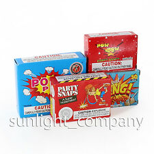 20 Assorted Boxes Unit Fun Loud Bang Party Snaps Filler Kids Adult Loot Pack Bag