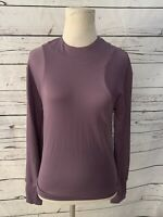 3.1 Phillip Lim  Womens Long Sleeve Blouse Sz S Light Purple Zip Side Collar