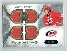 15-16 UD The Cup Foundations  Justin Faulk  /75  Quad Jerseys