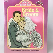 A Golden Book Deluxe Paper Doll Bride & Groom Vintage 1990 Uncut
