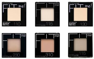 MAYBELLINE Fit me Pressed Powder/Set + Smooth 9g - CHOOSE SHADE - NEW Sealed