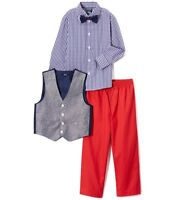 Boy NANNETTE suit outfit 0-3-6-12-18-24 NWT Christmas white dress shirt burgundy