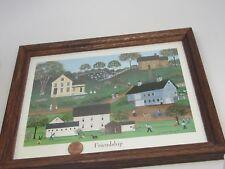 "Deborah K Mayo Signed&framed print""Friendship""1994 School 24x20cm/8 1/2 x 9 1/2"""