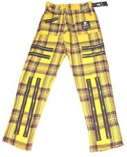 "Yellow Tartan Zip Punk Trousers. Bondage Pants 30-32"" waist"