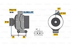 Focus 1.4, 1.6 16v Bosch 0986080230 Alternator