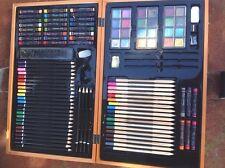 coffret boite de pastels craies crayons,dessin aquarelle,studio art,watercolor.