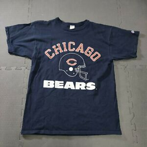 Vintage 80s CHAMPION CHICAGO BEARS Navy Adult LARGE Graphic T Shirt USA cotton