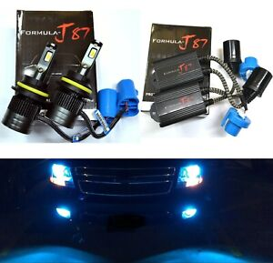 LED G8 Canceler 9007 HB5 8000K Icy Blue Bulbs Head Light Dual Beam Replace Stock