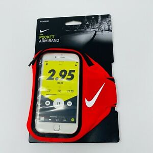 Nike Pocket Arm Band Plus Phone Case  Zip Pouch Blue Running Unisex red
