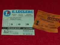 [Colección Deporte Fútbol ] Billete Auxerre / Psg 23 Feb 1996 Coupe Francia 1/