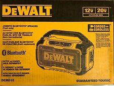 Altavoz Bluetooth Dewalt DCR010 Jobsite 20/12 voltios Nuevo En Caja