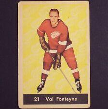 VAL FONTEYNE  1961/62  Parkhurst #21 VG/EX  Detroit Red Wings  original single