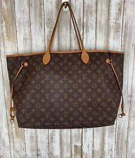 Louis Vuitton Neverfull GM Monogram LV Large Shoulder Handbag Tote Purse BIGGEST