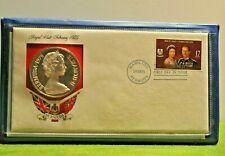 1975 $25 Dollar Sterling Silver Royal Visit Bermuda Coin w/Box and Coa