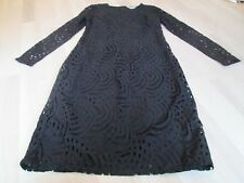 BODEN New Zeta Ponte Dress - Black - UK 10 L -