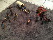 Lot Playmobil Vintage - Indiens-Diligences-CowBoys