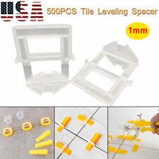 500Pc Clips Tile Leveling System Kit Floor Wall 1.0mm Tile Spacer Tiling Tool Us