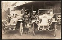 RENAULTS BK WW1 MILITARY CARS ANTIQUE MODEL TRANSPORTATION PHOTO RPPC POSTCARD