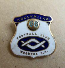 1966 WOOMERA KOOLYMILKA  FOOTBALL CLUB SOUTH AUSTRALIAN ENAMEL BADGE K.G LUKE