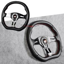 Universal 350MM Sports Racing Steering Wheel 6 Bolts Holes JDM Horn