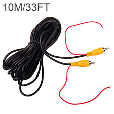 Red 10M 33Ft Car Rca Av Rear View Backup Camera Video Cable Cord With Trigger(Fits: Cadillac Catera)