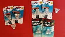 (LOT OF 8) Philips 12V MR11 Halogen Bulbs GU4 Base Landscape 10W & 20W
