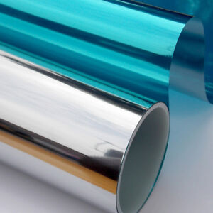 One Way Mirror Home Glass Privacy Film Solar Reflective Window Tint Roll 196inch