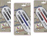 Parker Vector Standard Calligraphy CT Fountain Pen , Blue , Black Pen , Red Pen