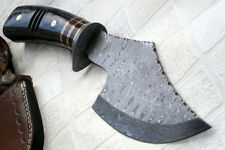 DIST 13 321 Custom made Damascus Steel 12.50 Inches Hatchet - Gorgeous and Solid