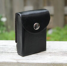 Black Poker Leather Case with Belt Loop/Clip for playing cards, Magician, Bridge
