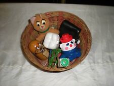 vintage basket of 8 small handheld toys none electronic