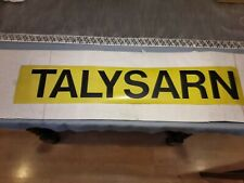 "VINTAGE 1980'S  30"" NORTH WALES BUS BLIND: TALYSARN"