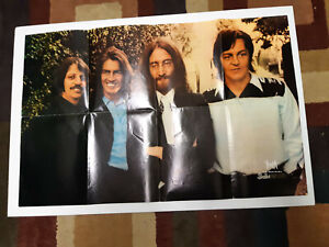 """VINTAGE 1969 THE BEATLES 28"""" X 18"""" FULL COLOUR FAN CLUB POSTER WITH ORDER FORM"""