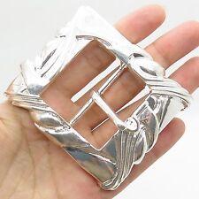 925 Sterling Silver Wide Men's Belt Buckle