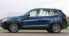 2011-2016 BMW X3 X-3 8Pc Chrome Pillar Post Stainless Steel