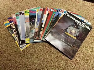 Passenger Train Journal Lot Of 19, 1978, 1984, 1985, 1986