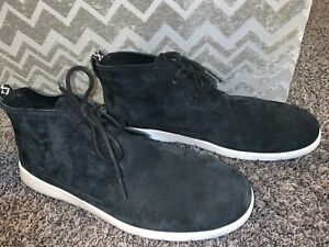 UGG Men's FREAMON CHUKKA Casual Fashion Ankle BOOTS Suede Black w White Shoes 14